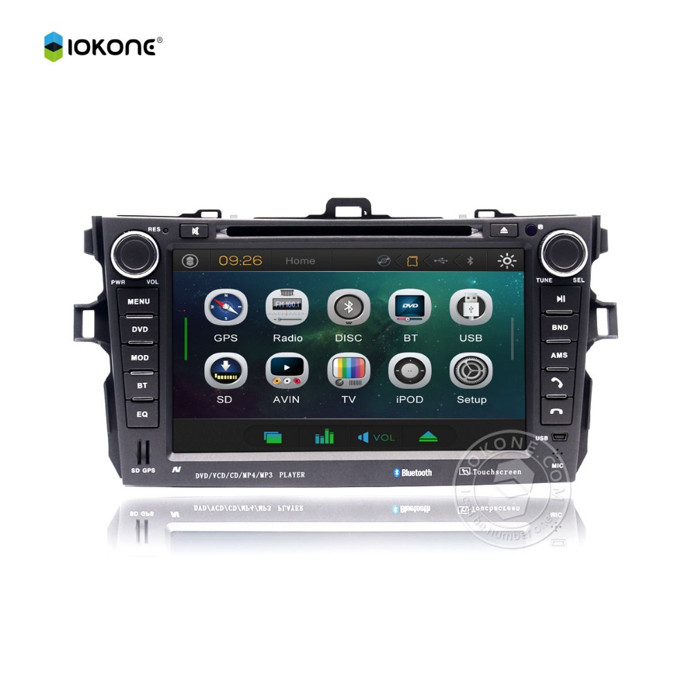 Factory cheaper price 2din <strong>car</strong> dvd player with gps bluetooth radio for <strong>Toyota</strong> Corolla