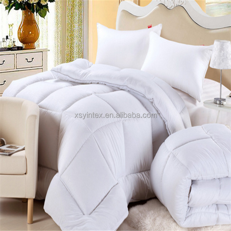 100-Percent cotton 233 thread count damask white goose down comforter