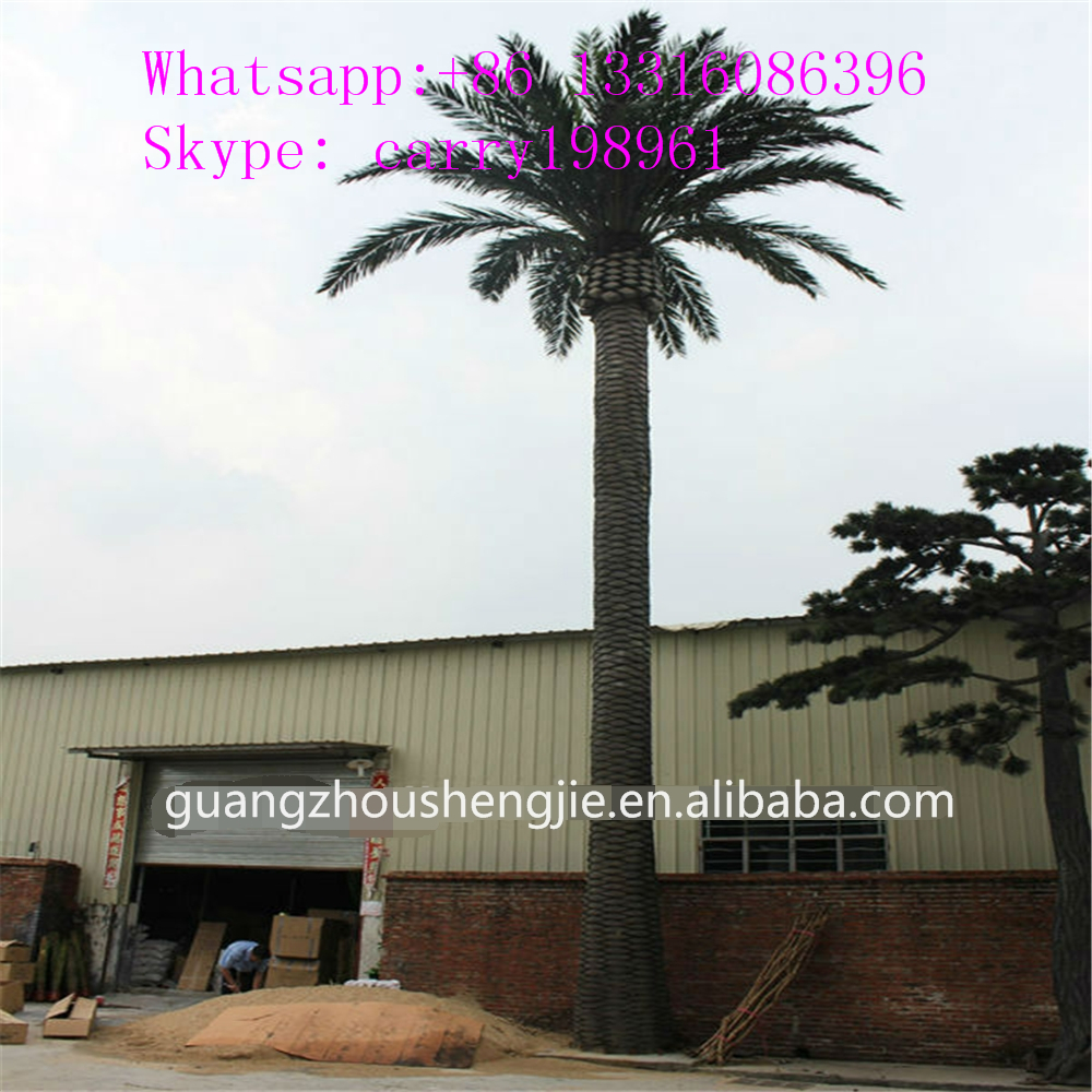 metal large decorative outdoor artificial date palm tree