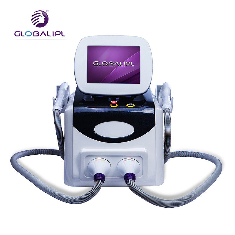 IPL SHR machine super hair removal skin rejuvenation mul-tifunction beauty equipment with two handles big spot