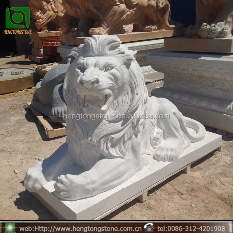 China Marble Statue Stone Carving Life Size Marble Lion Carving Factory