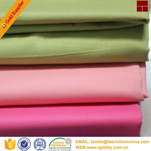 factory price soft poplin poly/cotton fabric for lining
