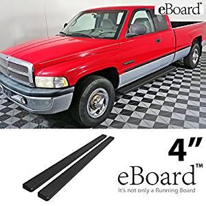 "4/"" eBoard Running Boards Fit Dodge Ram 1500//2500//3500 Quad Cab 02-08"