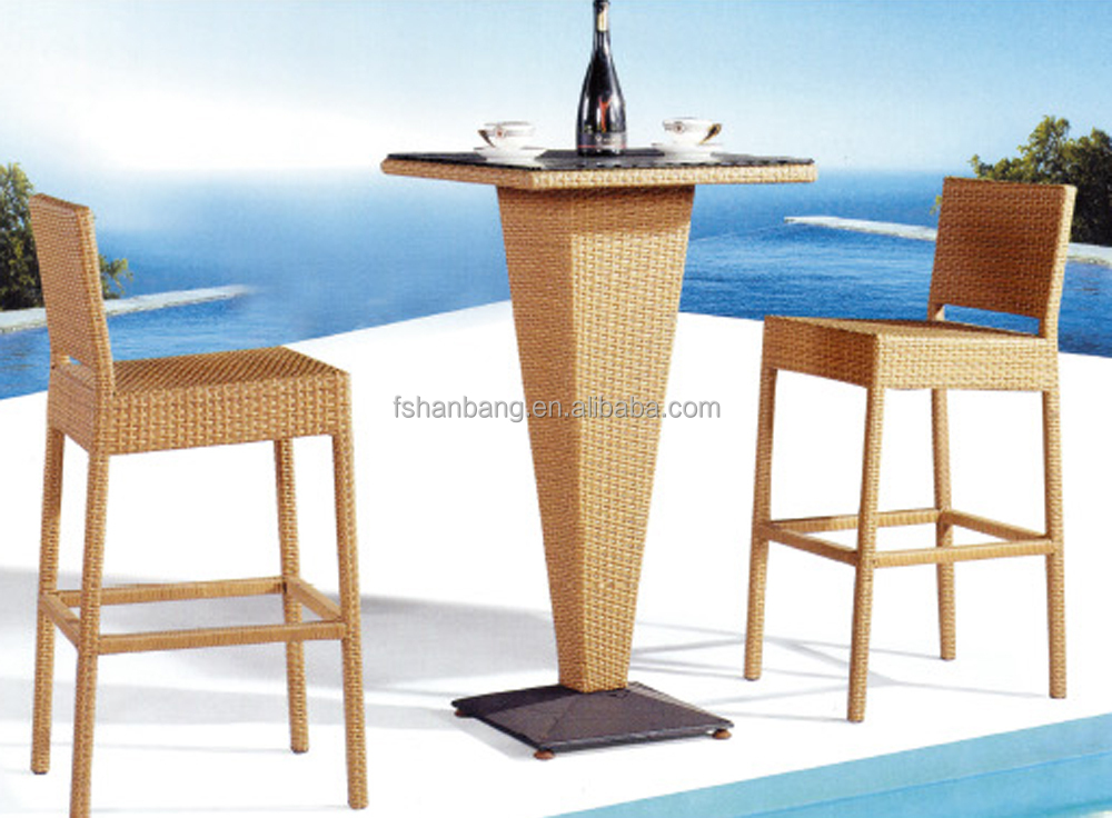 hotsale long outdoor resin wicker polyrattan bar table and. Black Bedroom Furniture Sets. Home Design Ideas