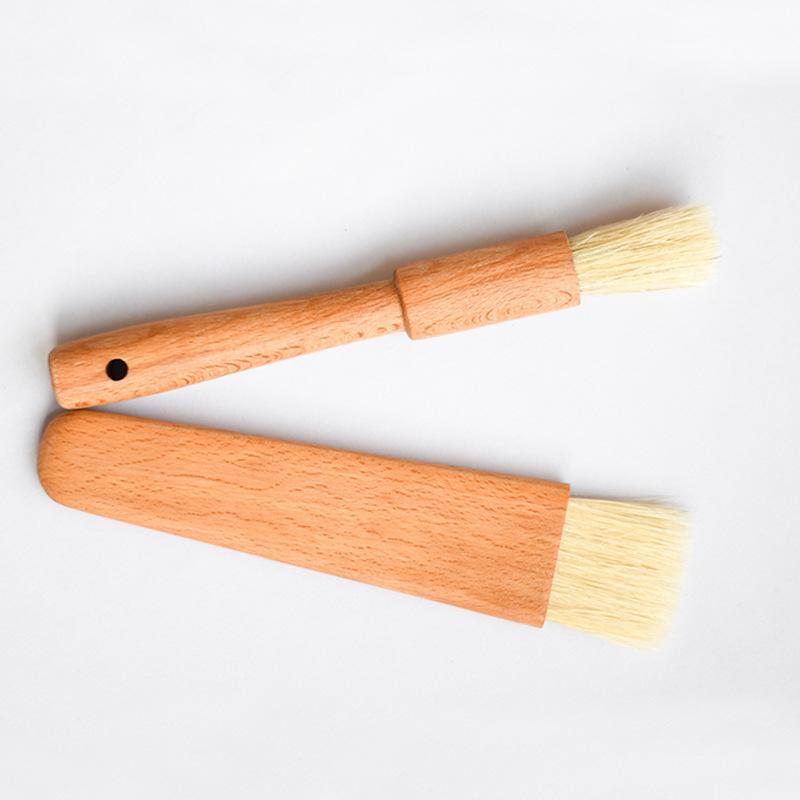 Newest custom round handle kitchen cooking brush set barbecue baking brush
