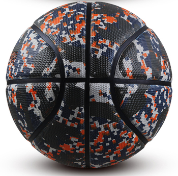 Cool rubber basketball ball with camouflage design unique fashionable ball