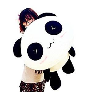 Generic Interesting amazing 70CM Cute Panda Pillow Soft Plush Toy Stuffed Smiling Lying Animal High Quality by KeyZone