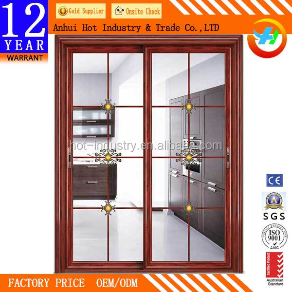 China Suppliers Sliding Door Main Entrance Sliding Glass Double ...