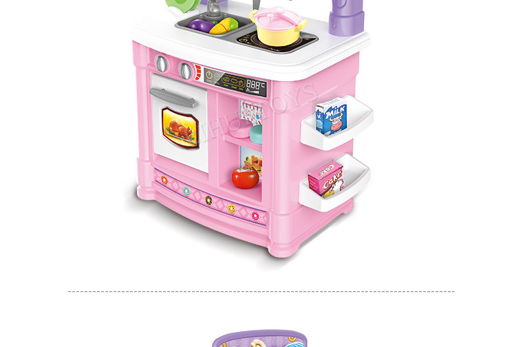 Girls Pink Kitchen Role Play Toy Sets Kids Pretend Play