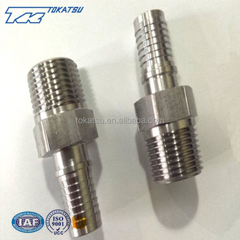 High quality cheap custom stainless steel hydraulic hose fittings 1/4 bsp nipple