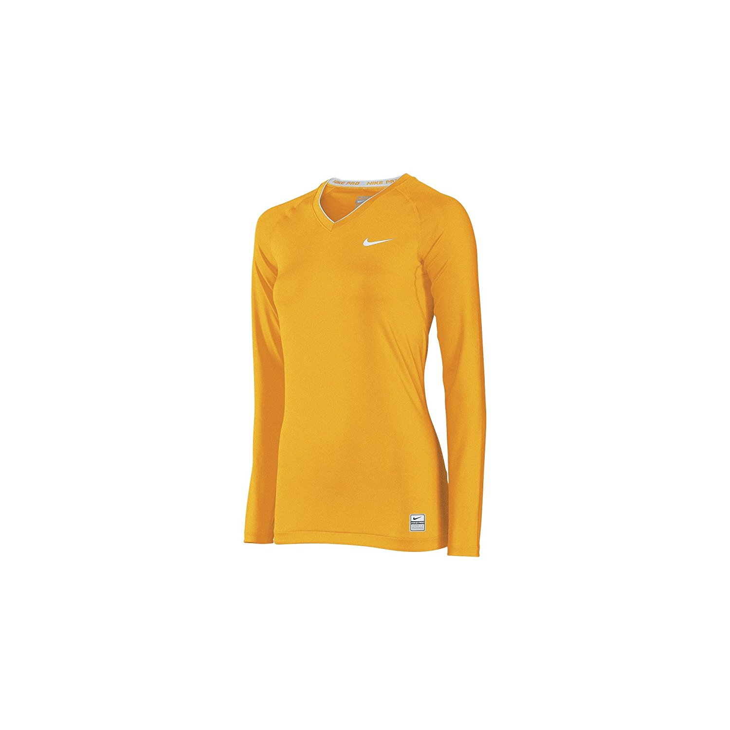 807ec603 Nike Women's Pro Core Tight Compression Long Sleeve V-Neck Top 410 727 Size  M
