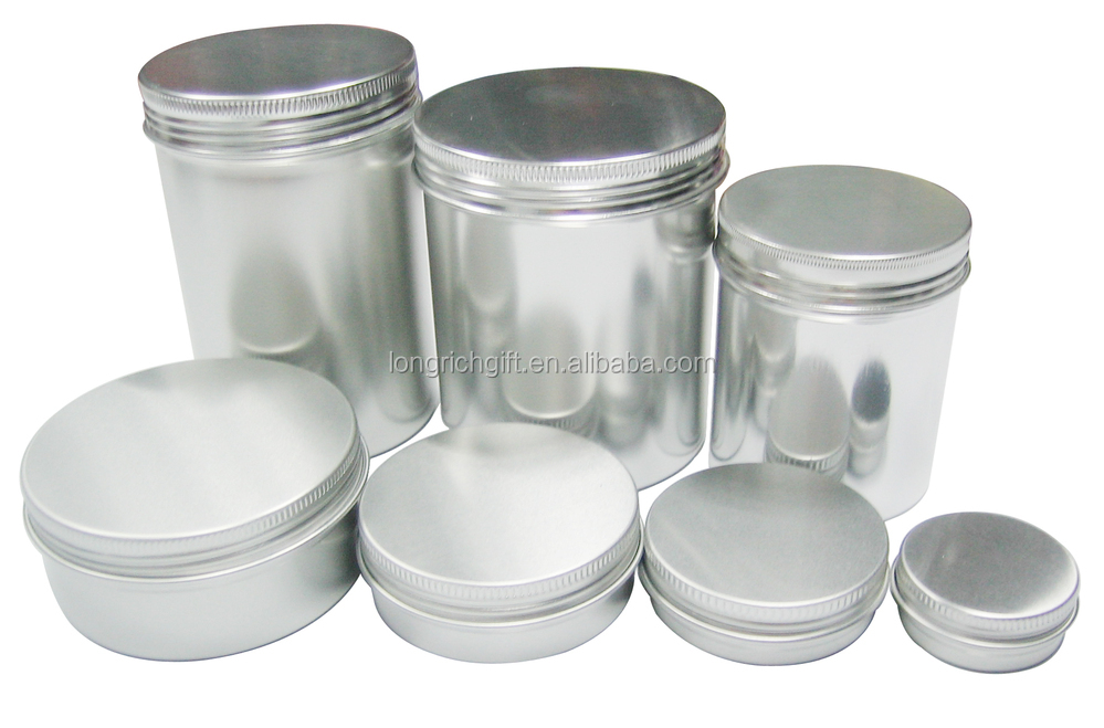 Aluminum Tin For Tea Empty Metal Canister