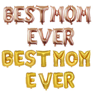 16inches best mom ever Balloon Aluminum Letter Balloon mother's day Hanging Ornament Party Decorations