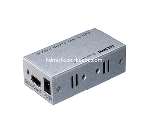 Hot Selling HD Audio Video Transmitter and receiver cat 5e/6 HDMI extender 60m HDCP1.2