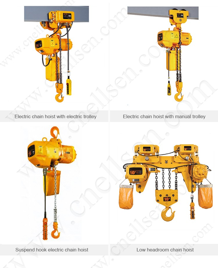 Electric Chain Hoist With Hook: 10 Ton Electric Stainless Steel Chain Hoists