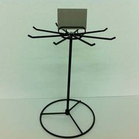 Rotating Metal Wire Greeting Card Counter Display Stand with Sign Holder