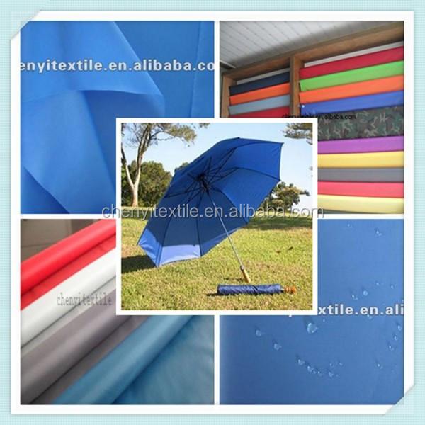 190t waterproof silver coated umbrella fabric