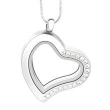 Fashion silver plated glass floating charm lockets pendant floating charms
