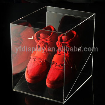 Small acrylic shoes display box , clear acrylic shoe display boxes