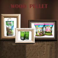 for the same output approx. only one third of the weight of mineral products wood pellet