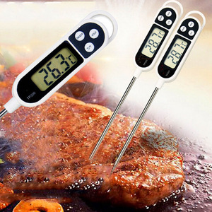 Digital Food Thermometer Kitchen Oven BBQ Cooking Meat Milk Water Measure Probe Kitchen Tool Barbecue Thermometer TP300