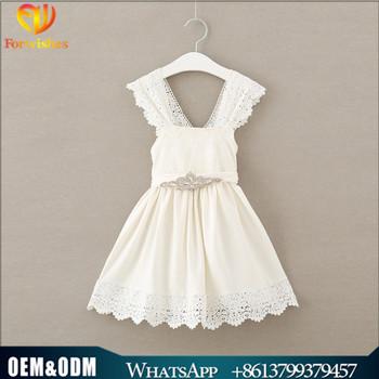 Ivory Cotton Flower Girl Dresses