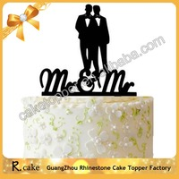 Personalized Acrylic Mrs & Mrs Cake Topper Gay Wedding Cake Topper for Party Cake Decoration Supplies
