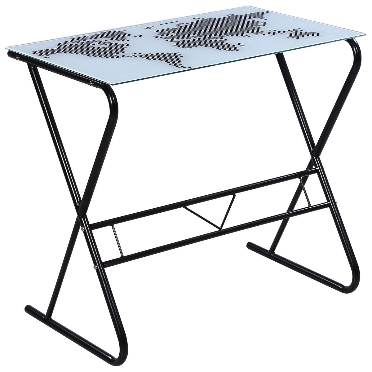 Cheap map desk find map desk deals on line at alibaba get quotations vidaxl glass desk with world map pattern gumiabroncs Images