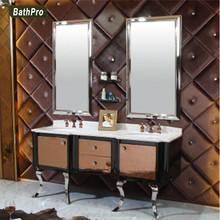estilo antiguo tocador del bao con lavabo doble doble fregadero de acero inoxidable