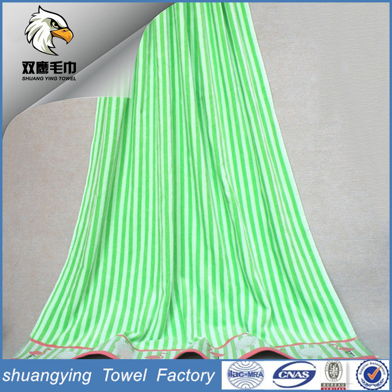 China Company Dobby Embroidery Velour Skin-Friendly Beach Towel