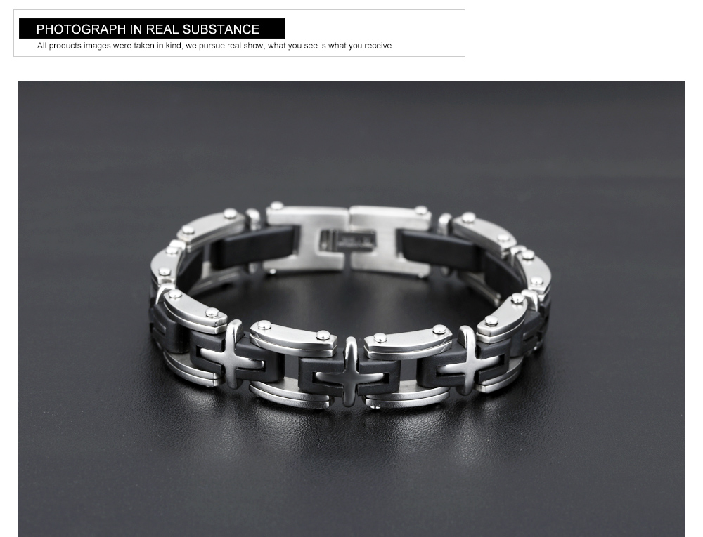 Factory Customized Latest Stainless Steel Boy Hand Bracelet
