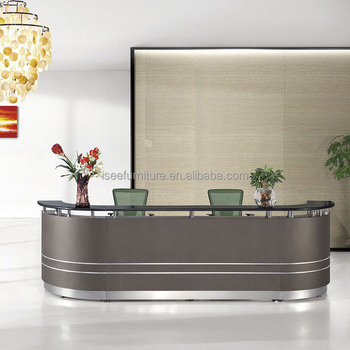 Office Front Desk Counter Curved Office Reception Table Models Hotel Desk  Size IE110