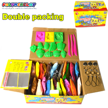 Wholesale 24 colors 20g/bag super light clay soft polymer modeling clay with tools effect blocks special Kids toy DIY magic clay