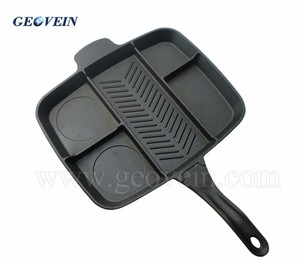 Cast Iron cookwareType non-stick Divided skillet frying pan master pan