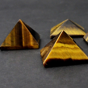 Natural mixed semi-precious stone tiger eye pyramids
