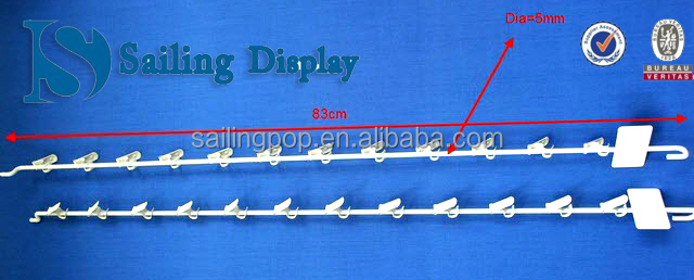 Metal Clip Strip / Hang Strip / Merchandising Strip (12 clips)