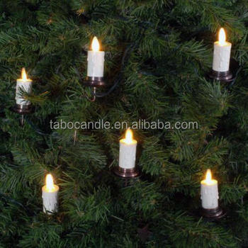 luminara moving flame led christmas tree candles