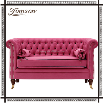 Retro Fabric Loveseat For Living Room Furniture,Princess Style ...