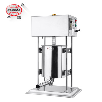 10L low price electric sausage making machine /sausage filling filler  stuffer maker for small factory, View automatic sausage maker, GLOBAL  Product