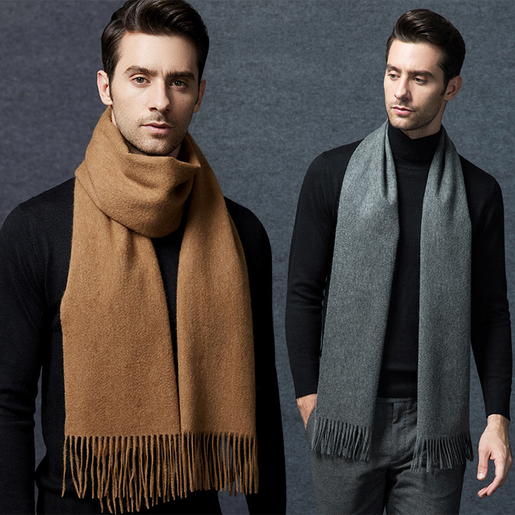High Quality Soft Cashmere Feeling Long Fashion Man Thick Winter Pashmina Scarf Wholesale