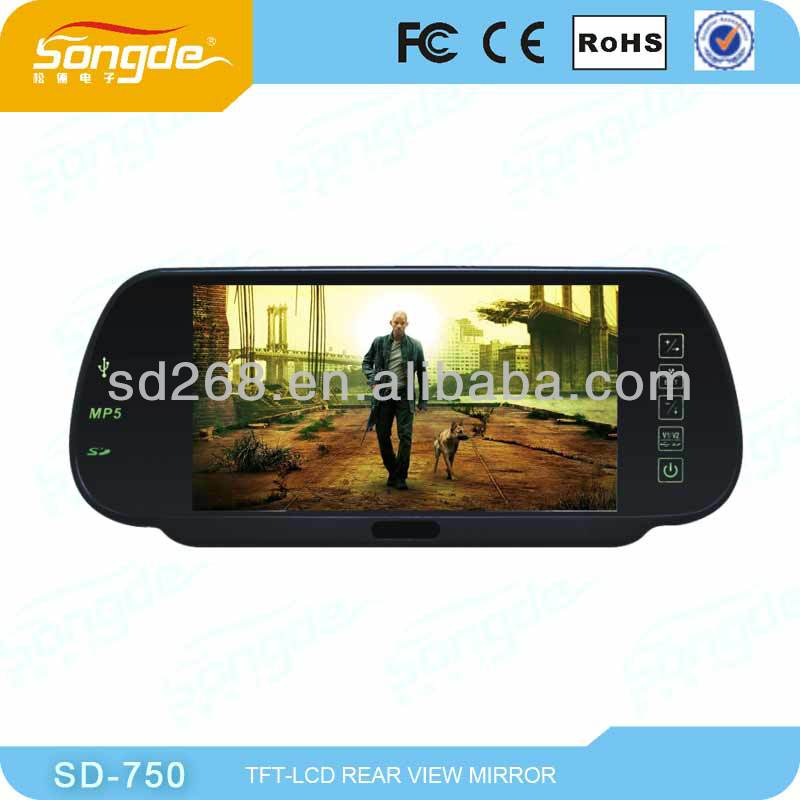2013 The Latest 7 Inch Lcd Car Rear View Mirror For Universal Car