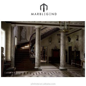 Western Grey Marble Indoor Decorative Columns - Buy Columns,Indoor ...