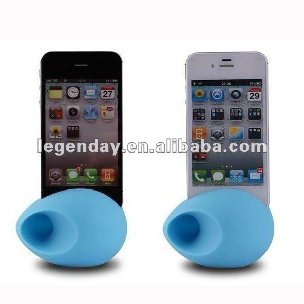 Silicone Horn Stand For Iphone 4g