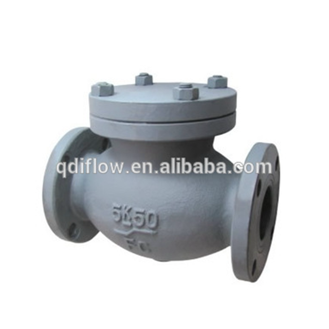JIS 5K swing check valve with cast iron F 7372