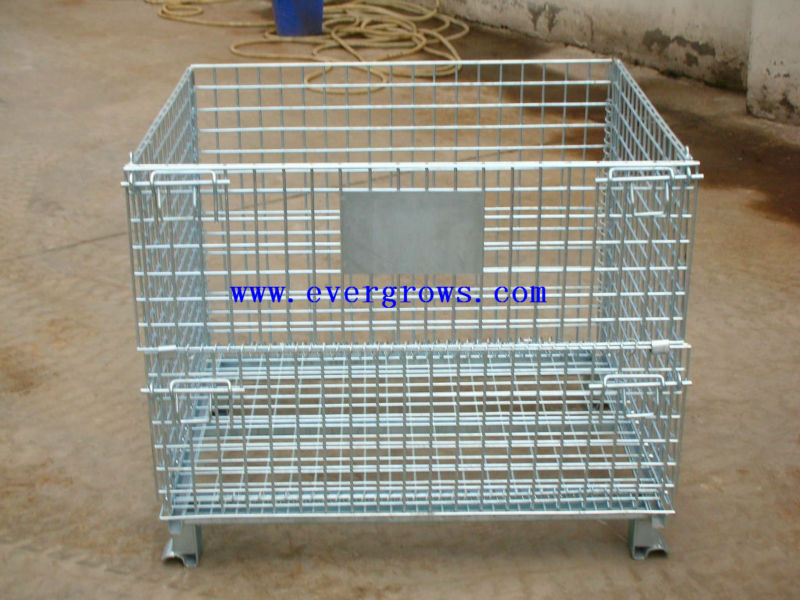 Evergrows Laundry Wire Mesh Roll Cage Container Trolley Wire Mesh Container