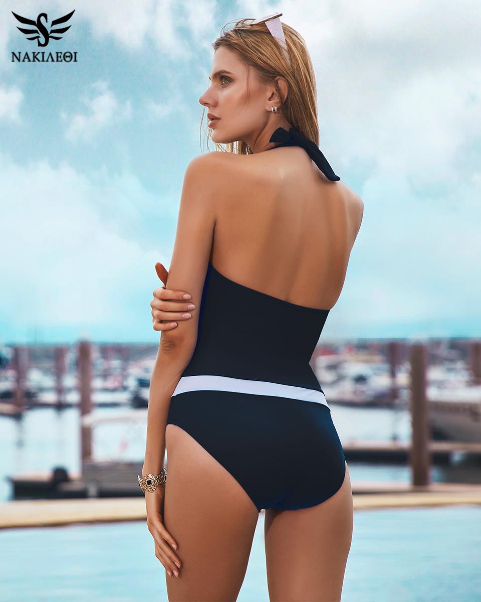 ff282ad0647aa 2019 Wholesale NAKIAEOI 2017 New One Piece Swimsuit Women Vintage ...