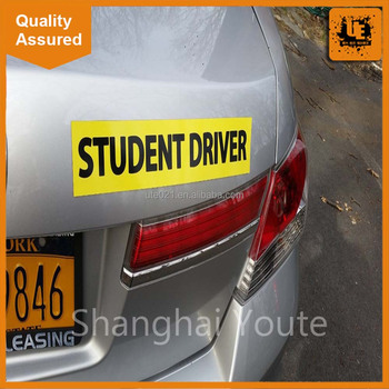 Student Driver Driving School Magnetic Car Stickercustom Car - Custom car magnets uk