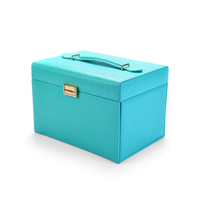 New product PU leather stock jewelry case multi-function jewelry box in stock