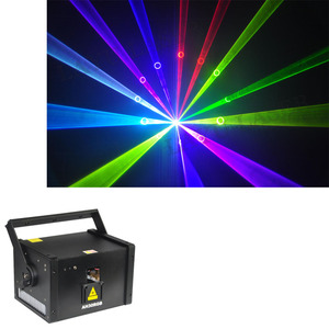 LAYU Remote Laser Stage Projector DJ Club RGB animation SD card IR control 3W Christmas Laser Light with Analog modulation