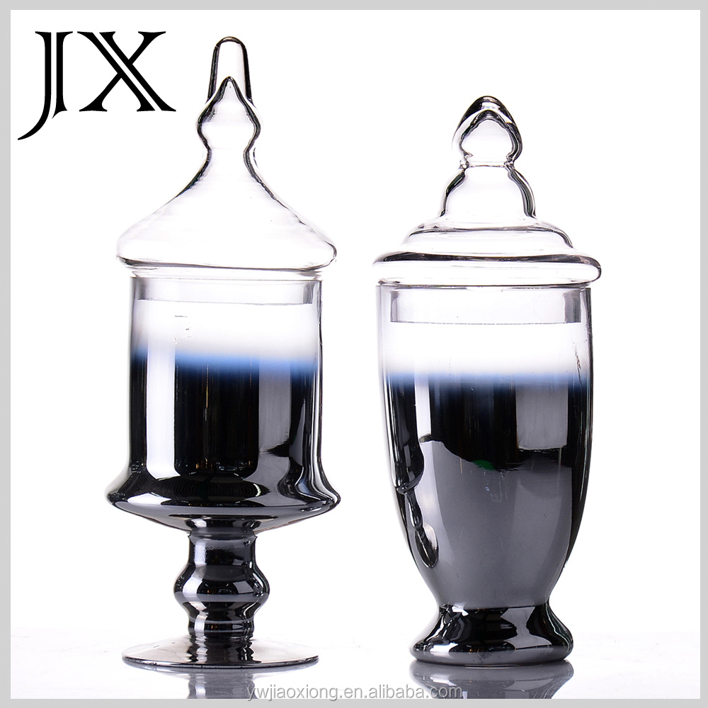Plating Glass Canisters Glass Apothecary Jar Candy Cookie Storage